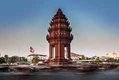 Independence Monument, Phnom Penh,Cambodia. The Independence Monument was built in 1958 for Cambodias independence from France in 1953. It stands on the Royalty Free Stock Photo
