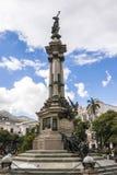 Independence monument in Plaza Grande Quito, Ecuador Stock Photo