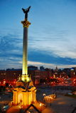 Independence monument. Independence square. , Kyiv Ukraine .  Night lights of Europe Royalty Free Stock Photography