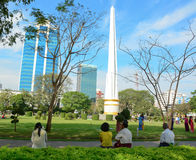 Independence Monument in Yangon Stock Photos