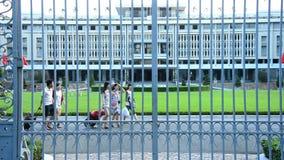 Independence Palace through the Front Gates - Ho Chi Minh City (Saigon) Vietnam stock video