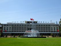 Independence palace ho chi minh city Vietnam and fountain. On a sunny day Royalty Free Stock Photos