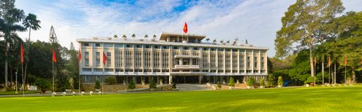 Independence Palace in Ho Chi Minh City, Vietnam. Panorama. Independence Palace or Reunification Palace in Ho Chi Minh City, Vietnam. Panorama stock photos