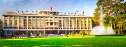 Independence Palace in Ho Chi Minh City, Vietnam. Panorama. Independence Palace or Reunification Palace in Ho Chi Minh City, Vietnam. Panorama royalty free stock photography