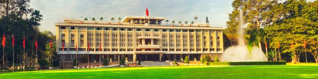 Independence Palace in Ho Chi Minh City, Vietnam. Panorama. Independence Palace or Reunification Palace in Ho Chi Minh City, Vietnam. Panorama stock image