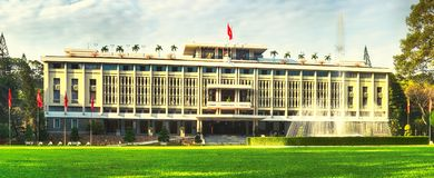 Independence Palace in Ho Chi Minh City, Vietnam. Panorama. Independence Palace or Reunification Palace in Ho Chi Minh City, Vietnam. Panorama stock photography