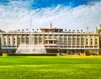 Independence Palace in Ho Chi Minh City, Vietnam. Panorama. Independence Palace or Reunification Palace in Ho Chi Minh City, Vietnam. Panorama royalty free stock images