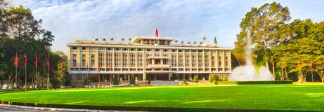 Independence Palace in Ho Chi Minh City, Vietnam. Panorama. Independence Palace or Reunification Palace in Ho Chi Minh City, Vietnam. Panorama stock photo