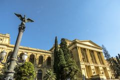 Independence Park and Museu Paulista royalty free stock photography