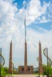 Independence park, Shymkent, Kazakhstan. Independence monument statue in Shymkent, Kazakhstan stock photo