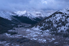 Independence Pass. Early morning snow along the pass in Colorado royalty free stock photography