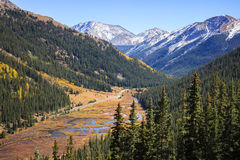 Independence Pass Colorado. The view of the Rocky Mountains from Independence Pass, Colorado royalty free stock photos