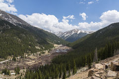 Independence Pass Scenic. A mountain landscape scenic from Independence Pass in Colorado royalty free stock photos