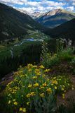 Independence Pass Trail. Near Aspen Colorado in the spring stock images