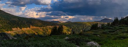 Independence Pass Trail. Near Crested Butte Colorado in the spring stock photography