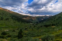 Independence Pass Trail. Near Crested Butte Colorado in the spring stock image