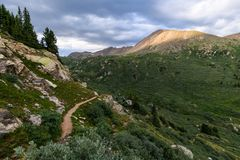 Independence Pass Trail. Near Crested Butte Colorado in the spring stock photo