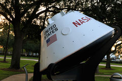 Independence Plaza Space Center Houston Moon capsule, Texas Royalty Free Stock Photos