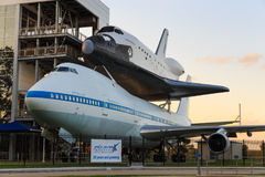 Independence Plaza Space Center Houston shuttle, Texas stock photography
