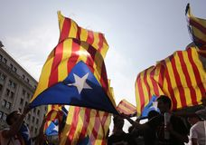 Independence referendum in barcelona Royalty Free Stock Photos