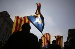 Independence referendum in barcelona Royalty Free Stock Images
