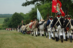 Independence Revolutionary War- Going To Positon Stock Photos