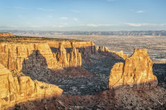 Independence Rock in Colorado National Monument Stock Photography