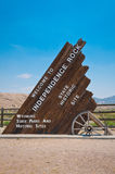Independence Rock Sign stock image