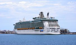 Independence of the Seas. Docked in the port of Alicante Stock Photo