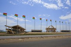 Independence Square, Accra. The main square in Accra -  Independence Square Royalty Free Stock Photography