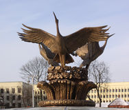 Independence Square in the center of Minsk. Fontaine details Stock Image