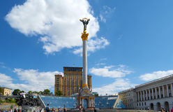 Independence Square - central square Kiev Royalty Free Stock Photo