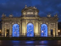Independence square in christmas Royalty Free Stock Photo