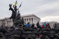Independence Square, Euromaidan in Kiev, Ukraine Stock Images
