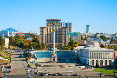Independence Square front view, Ukraine Stock Photos