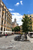 Independence Square in Girona Stock Images