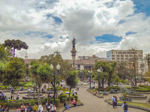 Independence Square Historic Center of Quito Ecuador Royalty Free Stock Image