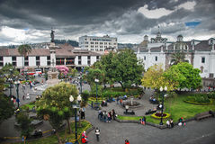 Free Independence Square In Quito Royalty Free Stock Images - 23440639