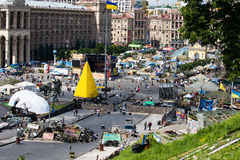 Independence Square in Kiev during a demonstration against the dictatorship in Ukraine Royalty Free Stock Photos