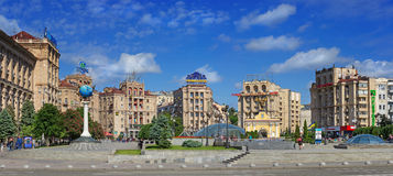 Independence Square in Kiev Royalty Free Stock Image