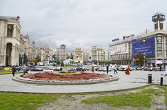 Independence Square in Kiev Royalty Free Stock Photo