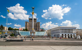 Independence square in Kyiv, Ukraine Royalty Free Stock Photo