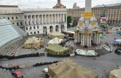 Independence square (Maidan Nezalezhnosti) afer the Revolution, Kiev, Ukraine Stock Images