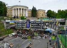 Independence square (Maidan Nezalezhnosti) afer the Revolution, Kiev, Ukraine Royalty Free Stock Photos
