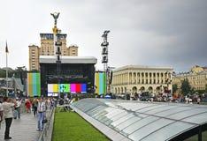 Independence Square (Maidan Nezalezhnosti) in Kiev. Ukraine Royalty Free Stock Photography