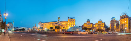 Independence square, the main square of Kyiv Stock Image
