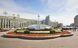 Independence Square in Minsk. Belarus Stock Photography
