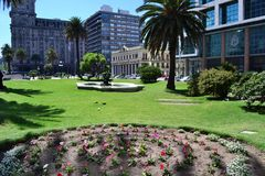 Independence square, Montevideo, Uruguay Royalty Free Stock Photography