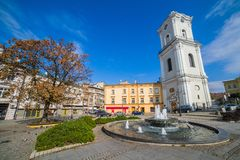 Independence Square in Przemysl Stock Photography