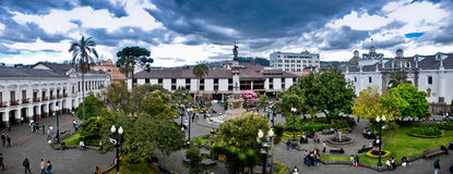 Independence Square in Quito Royalty Free Stock Photos